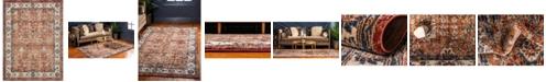 Bridgeport Home Shangri Shg2 Terracotta 9' x 12' Area Rug
