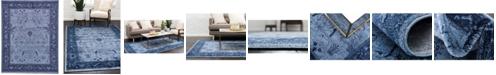 Bridgeport Home Aldrose Ald4 Blue 8' x 10' Area Rug