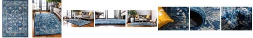 Bridgeport Home Masha Mas3 Navy Blue 7' x 10' Area Rug
