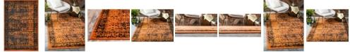 Bridgeport Home Linport Lin1 Terracotta/Black 4' x 6' Area Rug
