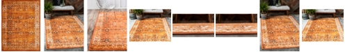 "Bridgeport Home Linport Lin1 Terracotta/Ivory 13' x 19' 8"" Area Rug"