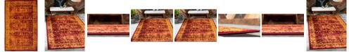 Bridgeport Home Linport Lin1 Burgundy 5' x 8' Area Rug