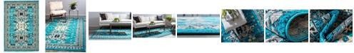 Bridgeport Home Charvi Chr1 Turquoise 4' x 6' Area Rug