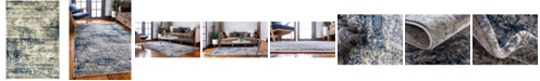 Bridgeport Home Marblesea Mrb4 Gray 4' x 6' Area Rug