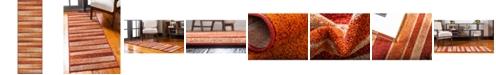 Bridgeport Home Jasia Jas12 Rust Red 2' x 6' Runner Area Rug