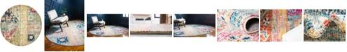Bridgeport Home Newhedge Nhg5 Multi 8' x 8' Round Area Rug