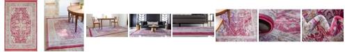 """Bridgeport Home Kenna Ken1 Pink 4' 3"""" x 6' Area Rug"""