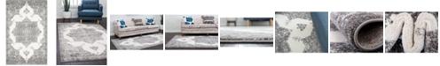 Bridgeport Home Mishti Mis6 Gray 4' x 6' Area Rug