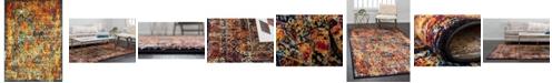 Bridgeport Home Mishti Mis1 Orange 9' x 12' Area Rug