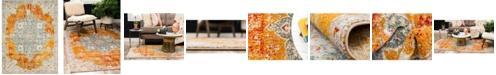 Bridgeport Home Mishti Mis8 Orange 8' x 10' Area Rug