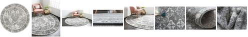 Bridgeport Home Mishti Mis2 Gray 8' x 8' Round Area Rug