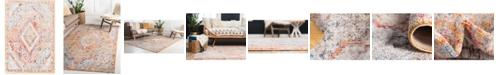 """Bridgeport Home Zilla Zil1 Orange 2' 2"""" x 3' Area Rug"""