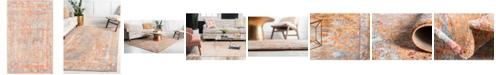 """Bridgeport Home Zilla Zil2 Orange 3' 3"""" x 5' 3"""" Area Rug"""
