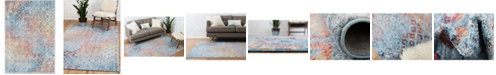 """Bridgeport Home Prizem Shag Prz2 Blue 2' 2"""" x 3' Area Rug"""