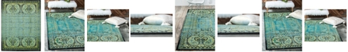 Bridgeport Home Linport Lin6 Aquamarine 10' x 13' Area Rug