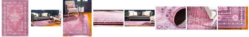 Bridgeport Home Malin Mal2 Pink 7' x 10' Area Rug