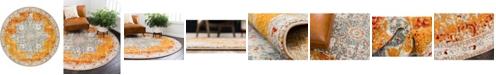 Bridgeport Home Mishti Mis8 Orange 8' x 8' Round Area Rug