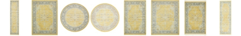 Bridgeport Home Kenna Ken1 Yellow Area Rug Collection
