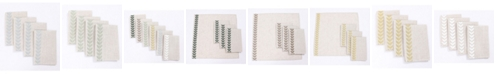 """Manor Luxe Cute Leaves Crewel Embroidered Napkins 20"""" x 20"""", Set of 4"""