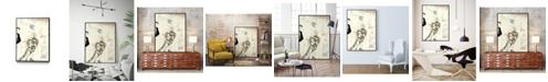 "Giant Art 28"" x 22"" Arte Deco Fashion II Art Block Framed Canvas"