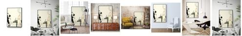 "Giant Art 14"" x 11"" Arte Deco Fashion I Art Block Framed Canvas"