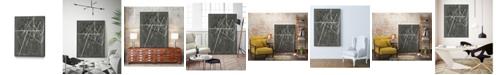 "Giant Art 40"" x 30"" Vertices II Art Block Framed Canvas"