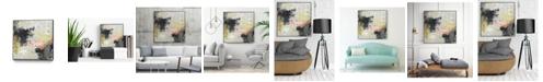 """Giant Art 20"""" x 20"""" Gossamer Cloud II Art Block Framed Canvas"""