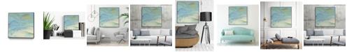 "Giant Art 30"" x 30"" Waters Edge III Art Block Framed Canvas"