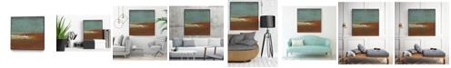 "Giant Art 30"" x 30"" Sea Horizon III Art Block Framed Canvas"