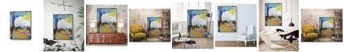 "Giant Art 28"" x 22"" Became Mucho II Art Block Framed Canvas"