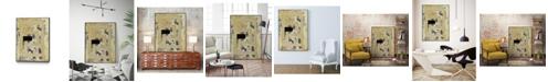 "Giant Art 36"" x 24"" Nickels Dimes III Art Block Framed Canvas"