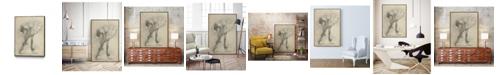 "Giant Art 28"" x 22"" Antique Ballerina Study II Art Block Framed Canvas"