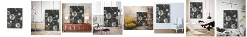 "Giant Art 24"" x 18"" Molecular Fusion I Art Block Framed Canvas"
