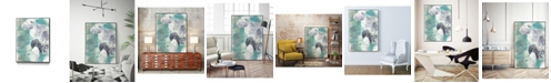 "Giant Art 36"" x 24"" Descending Orbs II Art Block Framed Canvas"