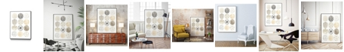 "Giant Art 14"" x 11"" Neutral Pattern Play II Art Block Framed Canvas"