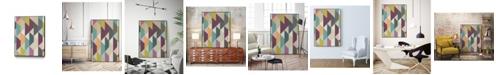 "Giant Art 40"" x 30"" Confetti Prism V Art Block Framed Canvas"