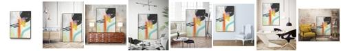 "Giant Art 36"" x 24"" Rhythm Variations I Art Block Framed Canvas"
