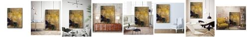 """Giant Art 20"""" x 16"""" Amber Haze II Art Block Framed Canvas"""