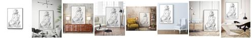 "Giant Art 24"" x 18"" Sitting Pose II Art Block Framed Canvas"