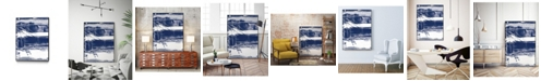 """Giant Art 28"""" x 22"""" Alternating Current V Art Block Framed Canvas"""