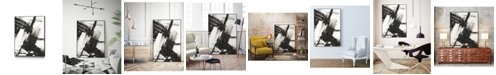 "Giant Art 40"" x 30"" Diagonal Matrix I Art Block Framed Canvas"