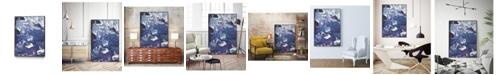 "Giant Art 36"" x 24"" Meandering Mulberry I Art Block Framed Canvas"
