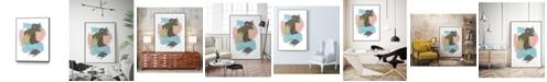 "Giant Art 14"" x 11"" Paint Web II Art Block Framed Canvas"