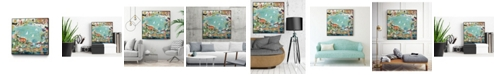 "Giant Art 30"" x 30"" Abstract Marina IV Art Block Framed Canvas"