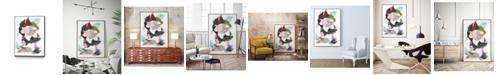 "Giant Art 40"" x 30"" Sonata I Art Block Framed Canvas"