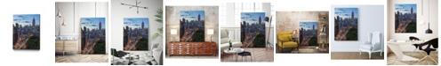 "Giant Art 24"" x 18"" Manhattan Skyline at Twilight Museum Mounted Canvas Print"