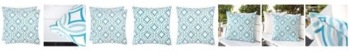 Homey Cozy Outdoor Pillow, Retro Circles - Set of 2