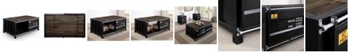 Furniture of America Wedgewood Sliding Door Coffee Table