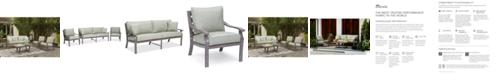Furniture Tara Aluminum Outdoor 3-Pc. Seating Set (1 Sofa & 2 Club Chairs), with Sunbrella® Cushions, Created for Macy's