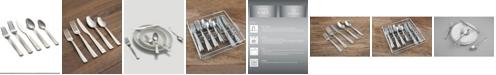 Cambridge Mena Frost 40-Piece Flatware with Chrome Buffet
